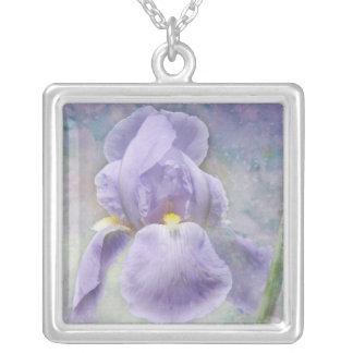 Textured Purple Iris Necklace