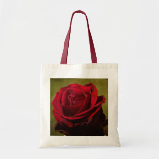 Textured Red Rose Tote Bag