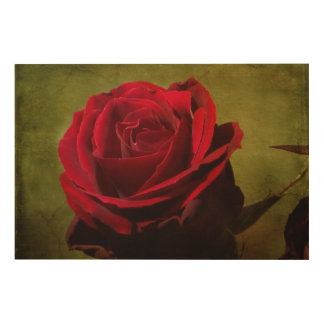 Textured Red Rose Wood Panel