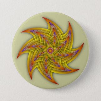 Textured Stars 7.5 Cm Round Badge