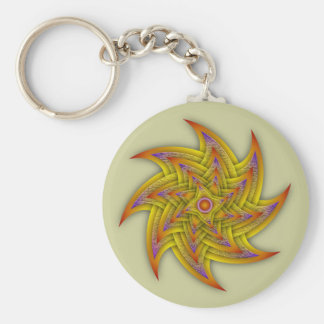 Textured Stars Basic Round Button Key Ring