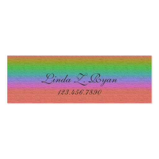 Textured Stripe #7 Business Card