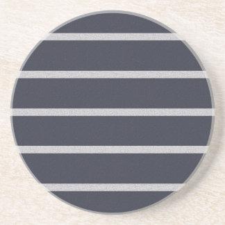 Textured Stripes coaster, customize Coaster
