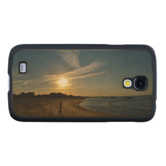 Textured Sunset Carved® Maple Galaxy S4 Slim Case