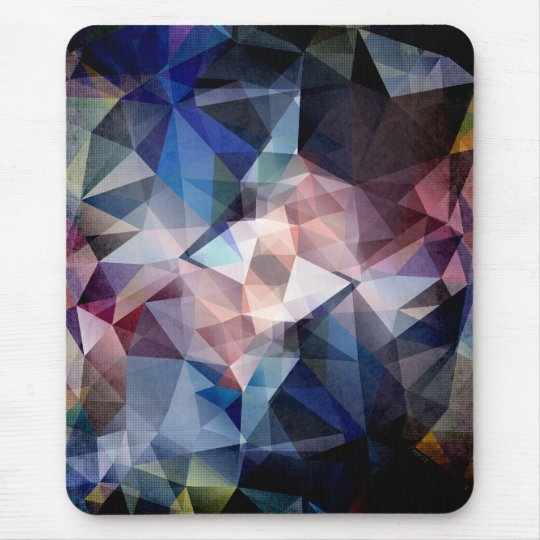 Textured Triangle Abstract Mouse Mat