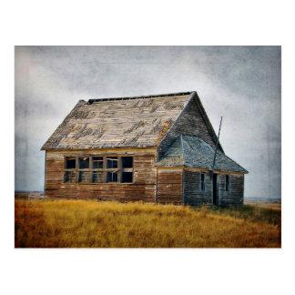 Textured Vintage Schoolhouse Postcard