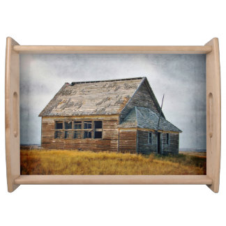 Textured Vintage Schoolhouse Serving Tray