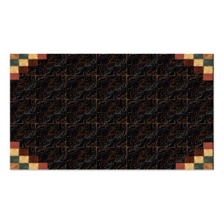 Textured Visual Rich Coffee Brown Business Card 1