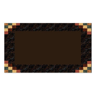 Textured Visual Rich Coffee Brown Business Card 2