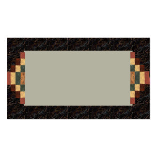 Textured Visual Rich Coffee Brown Business Card 4