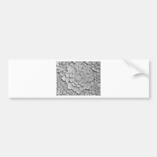 Textured wall bumper sticker