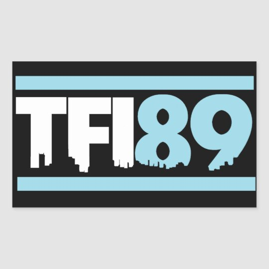 TFI89 Carolina Blue Sticker