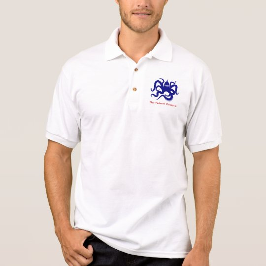TFO Icon Blue large, The Federal Octopus Polo Shirt