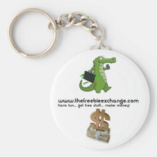 TFX Pin Basic Round Button Key Ring
