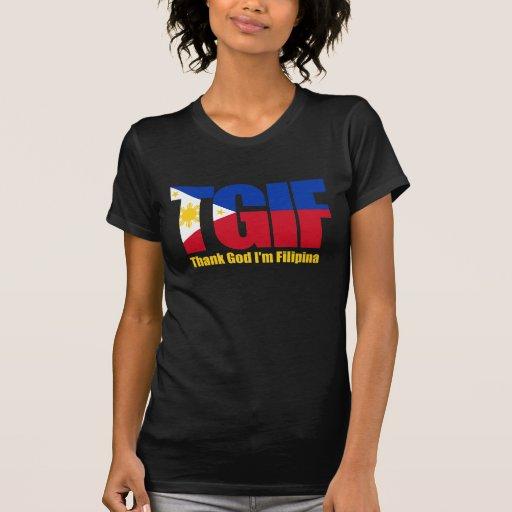 TGIF Filipina with Philippine Flag T-Shirt