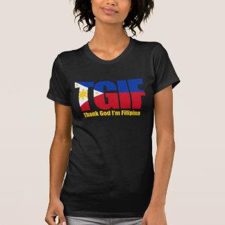 TGIF Filipina with Philippine Flag T Shirts