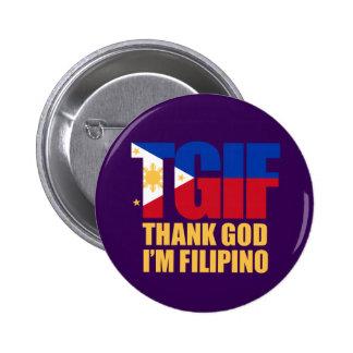 TGIF Filipino with Philippine Flag Button