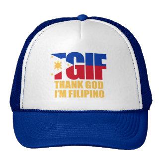 TGIF Filipino with Philippine Flag Trucker Hats