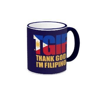 TGIF Filipino with Philippine Flag Ringer Mug