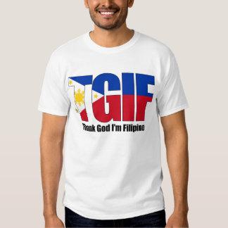TGIF Filipino with Philippine Flag Tshirt