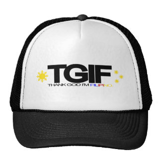 "TGIF ""Thank God I'm Filipino"" Mesh Hats"