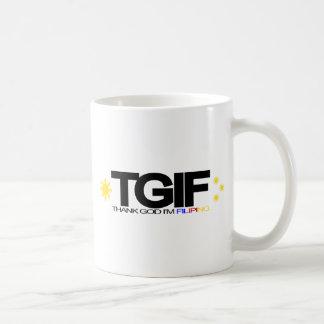 """TGIF """"Thank God I'm Filipino"""" Coffee Mugs"""