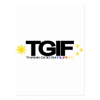 "TGIF ""Thank God I'm Filipino"" Postcards"