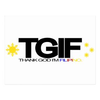 "TGIF ""Thank God I'm Filipino"" Post Card"