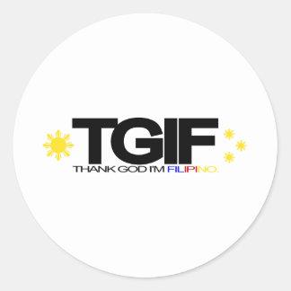 "TGIF ""Thank God I'm Filipino"" Stickers"