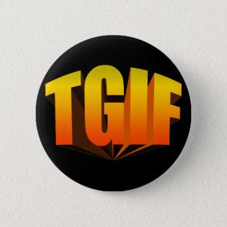 TGIF Yellow Rainbow 6 Cm Round Badge