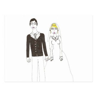Th creepy wedding 2 postcard
