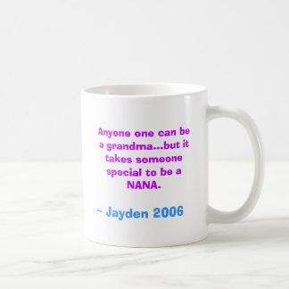 th_pwgEBblnk2, Anyone one can be a grandma...bu... Basic White Mug