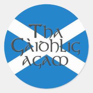 Tha Gaidhlig Agam: Bratach na h-Alba Round Sticker