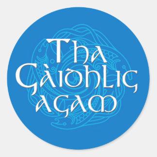 Tha Gaidhlig Agam Round Sticker