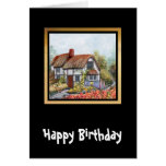 Thached Vintage Country Cottage Painting Cards