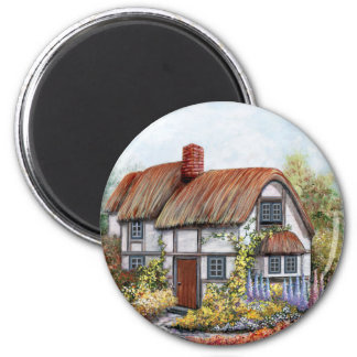 Thached Vintage Country Cottage Painting Refrigerator Magnets