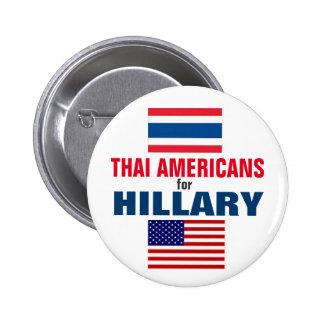 Thai Americans for Hillary 2016 6 Cm Round Badge