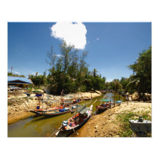 Thai boats photographic print