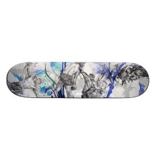 Thai Boxing Blue smoke design Skateboard