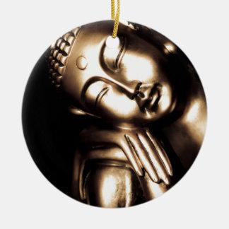 Thai Buddha Wisdom. Round Ceramic Decoration