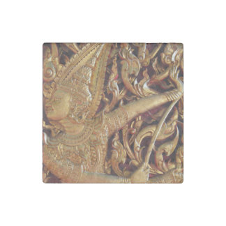 Thai Buddhist Temple Detail Stone Magnet