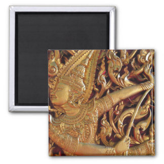 Thai Buddhist Temple Detail Magnet
