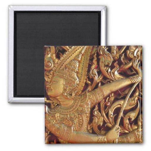 Thai Buddhist Temple Detail Refrigerator Magnets