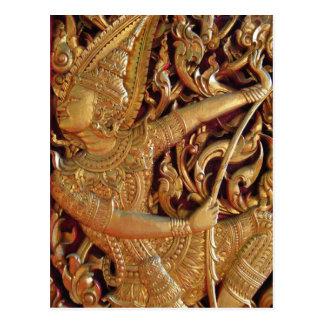 Thai Buddhist Temple Detail Postcard
