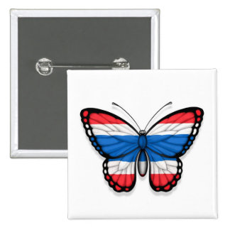 Thai Butterfly Flag 15 Cm Square Badge