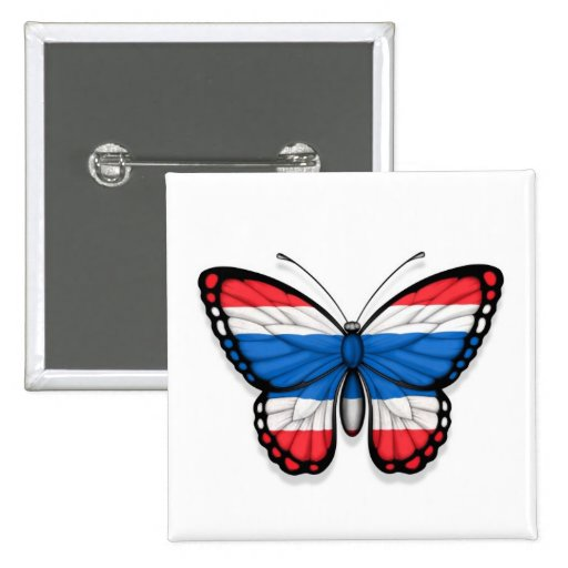 Thai Butterfly Flag Pin