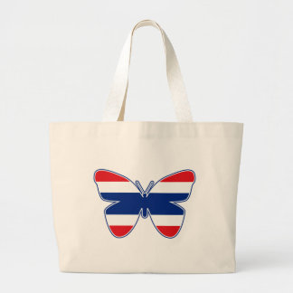 Thai Butterfly Flag Large Tote Bag