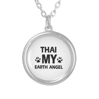 THAI CAT DESIGN SILVER PLATED NECKLACE