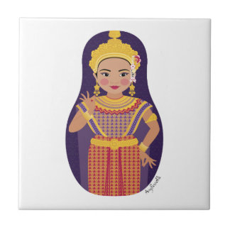 Thai Dancer Matryoshka Tile