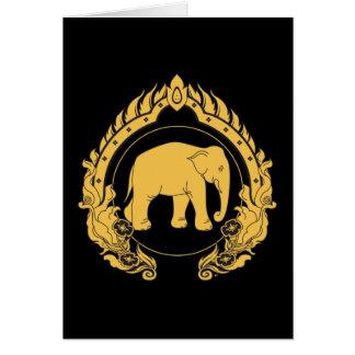 Thai Elephant Card